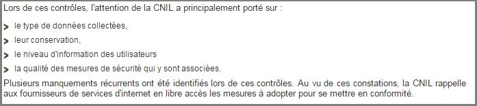 Internet et wi-fi en libre accès : bilan des contrôles de la CNIL